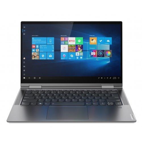 "Лаптоп Lenovo Yoga C740, сив, 14.0"" (35.56см.) 1920x1080 (Full HD) без отблясъци IPS тъч, Процесор Intel Core i5-10210U (4x/8x), Видео интегрирана, 8GB DDR4 RAM, 512GB SSD диск, без опт. у-во, Windows 10 64 ОС, Клавиатура- с БДС (снимка 1)"