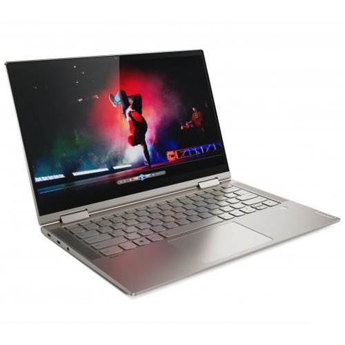 "Лаптоп Lenovo Yoga C740, златист, 14.0"" (35.56см.) 1920x1080 (Full HD) без отблясъци IPS тъч, Процесор Intel Core i5-10210U (4x/8x), Видео интегрирана, 8GB DDR4 RAM, 1TB SSD диск, без опт. у-во, Windows 10 64 ОС, Клавиатура- с БДС (снимка 1)"