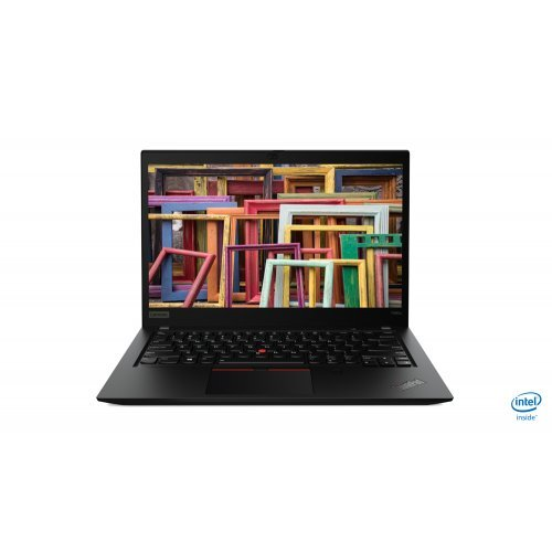 "Лаптоп Lenovo ThinkPad T490s, черен, 14.0"" (35.56см.) 1920x1080 (Full HD) без отблясъци IPS, Процесор Intel Core i5-8265U (4x/8x), Видео Intel UHD 620, 8GB DDR4 RAM, 256GB SSD диск, без опт. у-во, Windows 10 Pro 64 ОС, Клавиатура- с БДС (снимка 1)"
