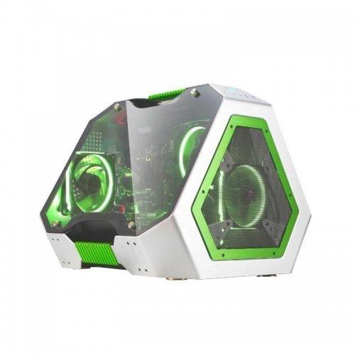 Компютърна кутия Кутия за настолен компютър Segotep SG-TG GR Mini Cube (снимка 1)