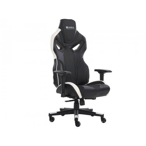 Геймърски стол SANDBERG SNB-640-83 Геймърски стол Sandberg Voodoo, Черно/Бяло (снимка 1)