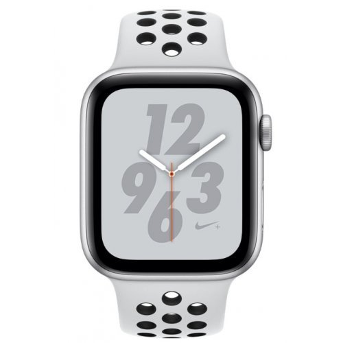 Ръчен часовник Apple Watch Nike+ Series 4 GPS, 40mm Silver Aluminium Case with Pure Platinum/Black Nike Sport Band (снимка 1)