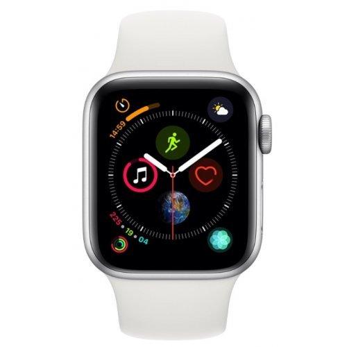 Ръчен часовник Apple Watch Series 4 GPS, 40mm Silver Aluminium Case with White Sport Band (снимка 1)