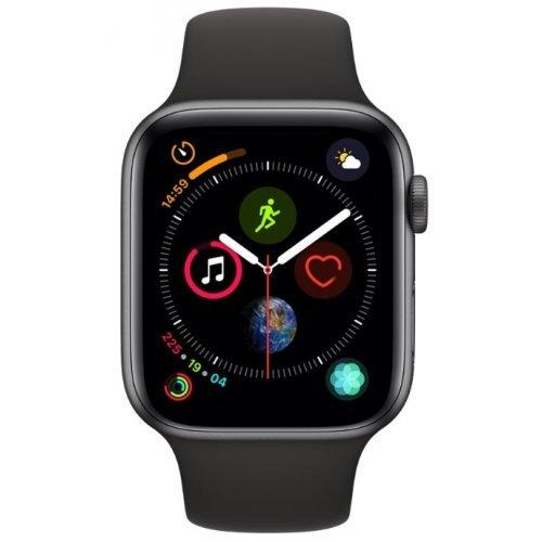 Ръчен часовник Apple Watch Series 4 GPS, 44mm Space Grey Aluminium Case with Black Sport Band (снимка 1)