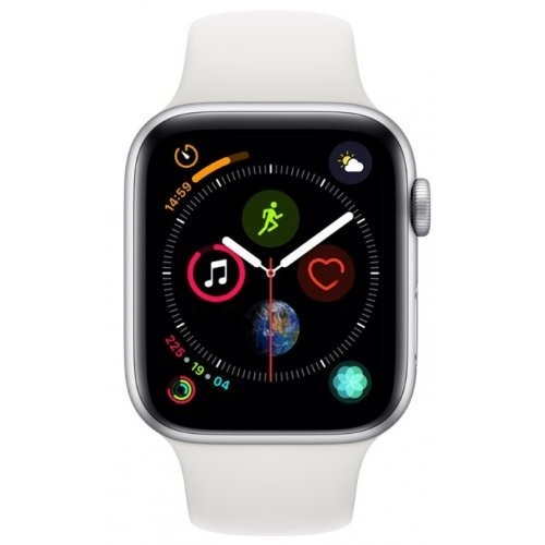Ръчен часовник Apple Watch Series 4 GPS, 44mm Silver Aluminium Case with White Sport Band (снимка 1)
