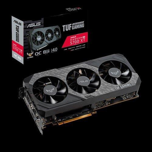 Видео карта AMD Asus TUF 3-RX5700XT-O8G-GAMING, Radeon RX 5700 XT TUF Gaming X3 OC, 8GB GDDR6, 1x HDMI 2.0b / 3x DisplayPort 1.4, Bulk (снимка 1)