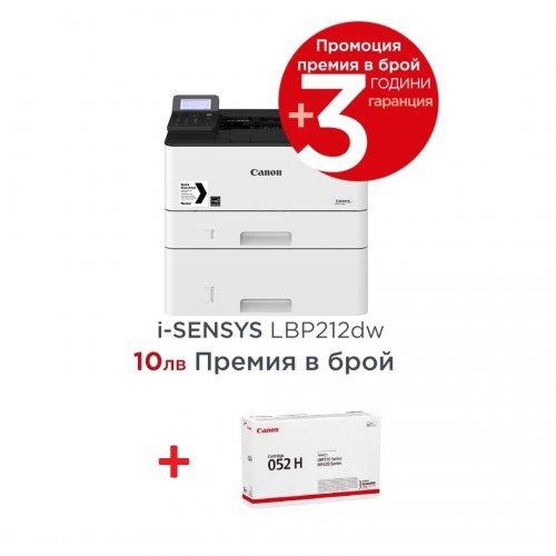 Принтер Canon i-SENSYS LBP212dw + Canon CRG-052H (снимка 1)
