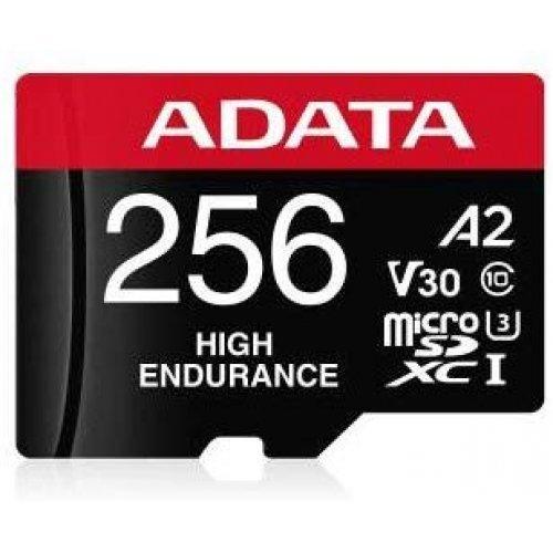 Флаш карта Secure Digital Card Micro 256GB, Adata High Endurance, SDXC, M+A UHS-I U3 V30 A2 Class 10 (снимка 1)