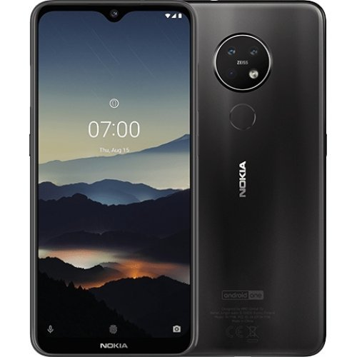 Смартфон Nokia 7.2 TA-1196 6/128GB Dual SIM, черен (Charcoal) (снимка 1)