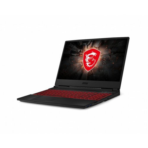 "Лаптоп MSI GL65 9SE-019XBG, червен, 15.6"" (39.62см.) 1920x1080 (Full HD) без отблясъци 120Hz, Процесор Intel Core i7-9750H (6x/12x), Видео nVidia GeForce RTX 2060/ 6GB GDDR6, 8GB DDR4 RAM, 256GB SSD диск, без опт. у-во, без ОС (снимка 1)"