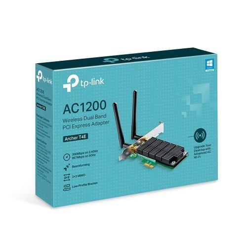 PoE сплитер Двучестотна PCI Express безжична мрежова карта TP-Link Archer T4E AC1200 (снимка 1)