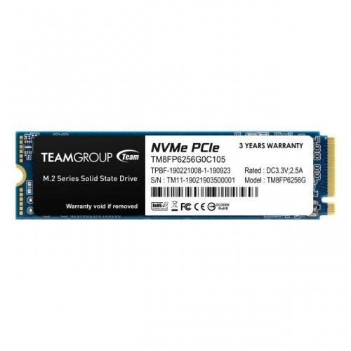 SSD Team Group 256GB MP33, M.2 2280 PCI-e 3.0 x4 NVMe (снимка 1)