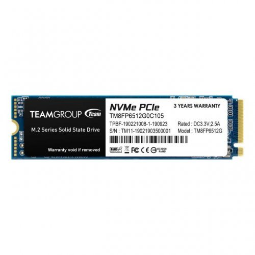 SSD Team Group 512GB MP33, M.2 2280 PCI-e 3.0 x4 NVMe (снимка 1)