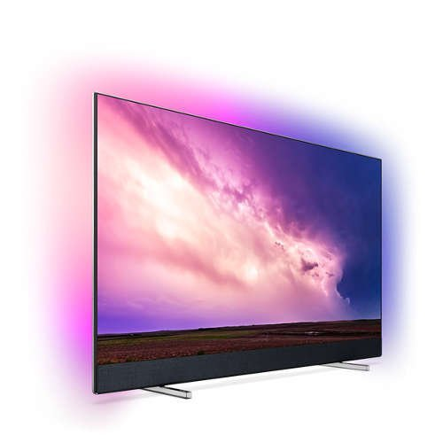 """Телевизор Philips 50"""" 4K UHD LED Android TV с 3-странен Ambilight, 2100 Picture Performance Index HDR 10+ Видео процесор P5 Perfect Picture, Bowers & Wilkins вграден звуков панел, Dolby Vision, Dolby Atmosр DVB-T/T2/T2-HD/C/S/S2, Изкуствен интелект с гласово управление (снимка 1)"""