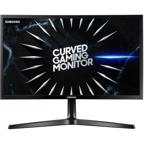 "Монитор Samsung C24RG50F Curved 23.5"" LED, Full HD (1920x1080), 144Hz, Brightness: 250cd/m2, Contrast: 3000:1, Response time: 4ms, Viewing Angle: 178°/178° , 2xHDMI, DP, Black (снимка 1)"