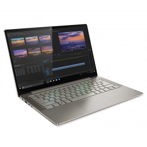 "Лаптоп Lenovo Yoga S740, сив, 14.0"" (35.56см.) 3840x2160 (4K Ultra HD) IPS, Процесор Intel Core i7-1065G7 (4x/8x), Видео nVidia GeForce MX250, 16GB DDR4 RAM, 1TB SSD диск, без опт. у-во, Windows 10 64 ОС, Клавиатура- с БДС (снимка 1)"