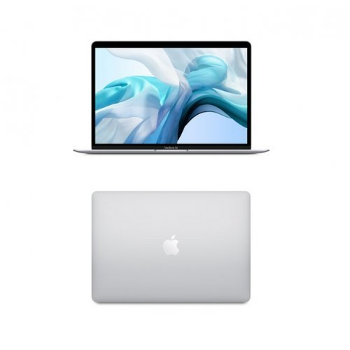 "Лаптоп Apple MacBook Air , сребрист, 13.3"" (33.78см.) 2560x1600 (WQXGA) лъскав, Процесор Intel Core i5-8210Y (2x/4x), Видео Intel UHD 617, 8GB LPDDR3 RAM, 128GB SSD диск, без опт. у-во, MacOS X Sierra ОС, Клавиатура- светеща (снимка 1)"