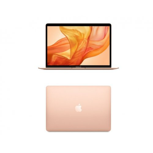 "Лаптоп Apple MacBook Air, златист, 13.3"" (33.78см.) 2560x1600 (WQXGA) лъскав, Процесор Intel Core i5-8210Y (2x/4x), Видео Intel UHD 617, 8GB LPDDR3 RAM, 128GB SSD диск, без опт. у-во, MacOS X Sierra ОС, Клавиатура- светеща (снимка 1)"