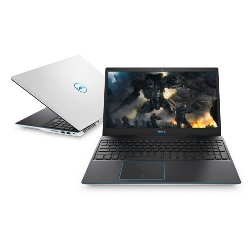 "Лаптоп Dell G3 15 3590, бял, 15.6"" (39.62см.) 1920x1080 (Full HD) без отблясъци, Процесор Intel Core i5-9300H (4x/8x), Видео nVidia GeForce GTX 1660Ti/ 6GB GDDR6, 8GB DDR4 RAM, 512GB SSD диск, без опт. у-во, Windows 10 64 English ОС, Клавиатура- светеща (снимка 1)"