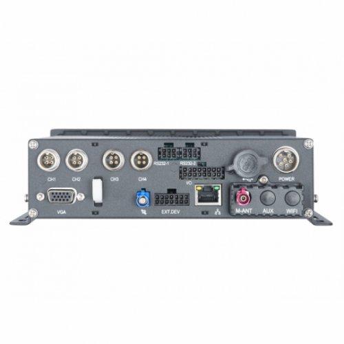 Хибриден видеорекордер HikVision DS-MP5504; 4-канален HD-TVI видеорекордер за видеонаблюдение и запис в превозни средства; компресия H.264+ с Dual Stream технология; поддържа до 4 TVI камери 1080p + 1 IP камера (снимка 1)