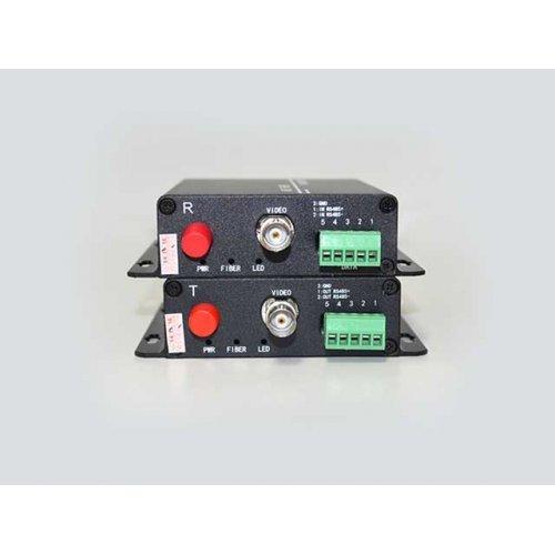 Видео по оптика Handar HD-AHD-1V1D-T/RF; Комплект приемник и предавател за пренос на 1 видеосигнал по оптичен кабел singlemode до 20 км (снимка 1)