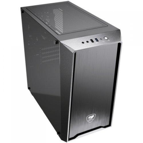Компютърна кутия COUGAR MG130-G, Mini Tower, Mini ITX / Micro ATX, USB3.0 x 1, USB2.0 x 1, Mic x 1 / Audio x 1, Reset Button, 4 x Expansion Slots, Standard ATX PS2, Water Cooling Support, 210 x 415 x 400 (mm) (снимка 1)