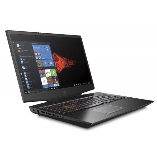 """Лаптоп HP Omen 17-cb0007nu, черен, 17.3"""" (43.94см.) 1920x1080 (Full HD) без отблясъци IPS, Процесор Intel Core i7-9750H (6x/12x), Видео nVidia GeForce RTX 2070/ 8GB GDDR6, 32GB DDR4 RAM, 2TB HDD + 1.024TB SSD диск, без опт. у-во, Windows 10 64 ОС, Клавиатура- светеща с БДС (снимка 1)"""