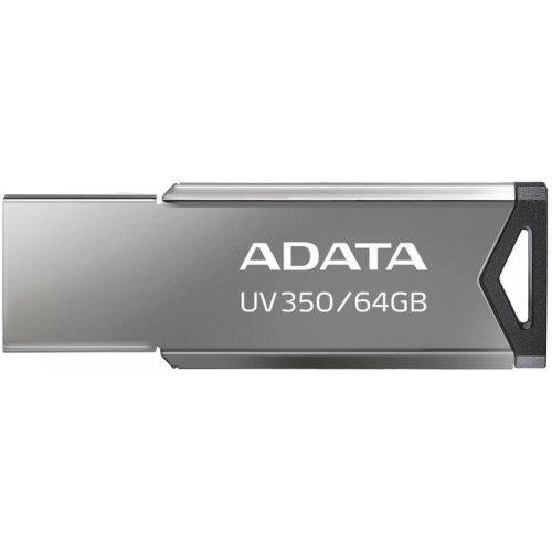 USB флаш памет 64GB Adata UV350, USB 3.2, сребрист (снимка 1)