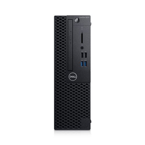 Настолен компютър DELL Dell OptiPlex 3070 SFF, Intel Core i5-9500 (9M Cache, up to 4.4 GHz), 8GB 2666MHz DDR4, 256GB SSD PCIe M.2, Intel UHD 630, DVD-RW, Keyboard&Mouse, Win 10 Pro, 3Y Basic Onsite (снимка 1)