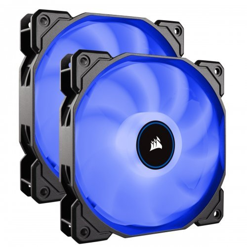 Охлаждане Corsair AF140 LED Low Noise Cooling Fan, 140mm x 25mm, Dual Pack, Blue - 2бр (снимка 1)