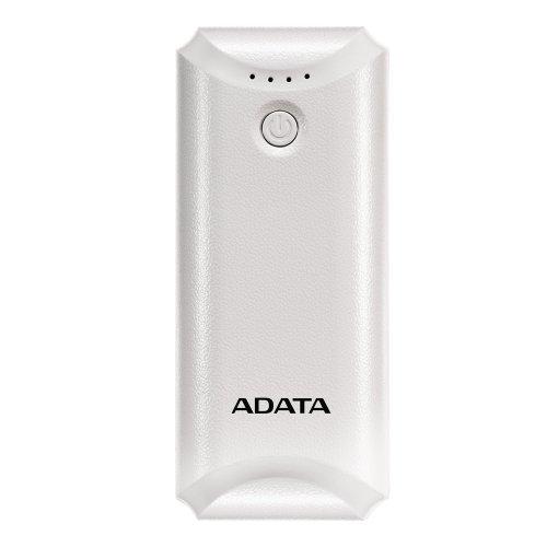 Мобилна батерия Adata P5000, 5000mAh (Rechargeable Li-ion battery), Output: DC 5V/ 1.0A, бял, 117 g, 99 x 43 x 22mm (снимка 1)