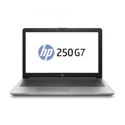 "Лаптоп HP 250 G7 15, сребрист, 15.6"" (39.62см.) 1920x1080 (Full HD) без отблясъци, Процесор Intel Core i3-7020U (2x/4x), Видео Intel HD 620, 4GB DDR4 RAM, 1TB HDD диск, DVDRW, DOS ОС (снимка 1)"