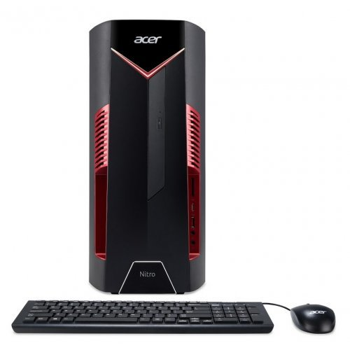 Настолен компютри Acer Acer Nitro N50-600, Intel Core i7-9700 (up to 4.70GHz, 12MB), 8GB DDR4(max.64GB), 256GB SSD & 1TB HDD, DVD+RW & CardReader, NVIDIA GeForce RTX 2070 8GB, Kbd & Mouse USB, GLAN,WLAN ac & BT5.0, HDMI,USB 4*2.0, 2*3.1, 1*Type C, 500W, Endless (снимка 1)