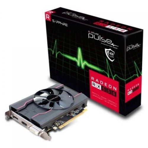 Видео карта AMD SAPPHIRE RADEON PULSE RX 550 4G GDDR5 HDMI / DVI-I / DP LP OC (UEFI) (снимка 1)