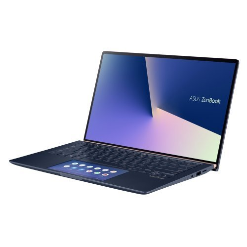 "Лаптоп Asus ZenBook UX434FAC-WB701T, син, 14.0"" (35.56см.) 1920x1080 (Full HD) лъскав, Процесор Intel Core i7-10510U (4x/8x), Видео nVidia GeForce MX250/ 2GB GDDR5, 8GB LPDDR3 RAM, 512GB SSD диск, без опт. у-во, Windows 10 64 ОС, Клавиатура- светеща с БДС (снимка 1)"