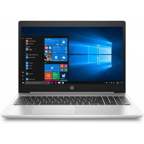 "Лаптоп HP ProBook 450 G6, сив, 15.6"" (39.62см.) 1920x1080 (Full HD) без отблясъци UWVA, Процесор Intel Core i7-8565U (4x/8x), Видео Intel UHD 620, 8GB DDR4 RAM, 256GB SSD диск, без опт. у-во, DOS ОС, Клавиатура- светеща (снимка 1)"