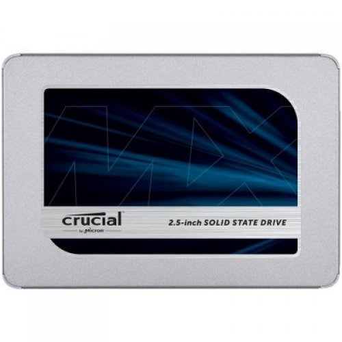 "SSD CRUCIAL 1TB  MX500 SSD, 2.5"" 7mm (with 9.5mm adapter), SATA 6 Gb/s, Read/Write: 560 / 510 MB/s, Random Read/Write IOPS 95K/90K Non-SED (RUSSIA ONLY) (снимка 1)"