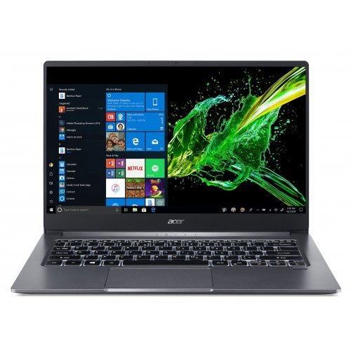 "Лаптоп Acer Swift 3 SF314-57-712U, черен, 14.0"" (35.56см.) 1920x1080 (Full HD), Процесор Intel Core i7-1065G7 (4x/8x), Видео Intel Iris Plus Gen 11, 8GB LPDDR4 RAM, 1TB SSD диск, без опт. у-во, Windows 10 64 ОС (снимка 1)"