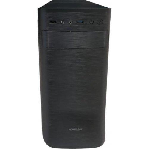 Компютърна кутия GOLDEN FIELD C177 Midi Tower, ATX, 7 slots, Audio Interface, USB 3.0, Steel 0.5 mm, PSU 550W ,120mm, Black (снимка 1)