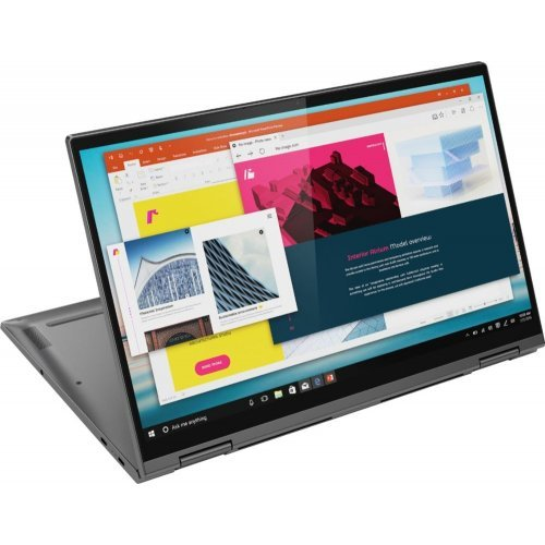 "Лаптоп Lenovo C740-15IML, сив, 15.6"" (39.62см.) 1920x1080 (Full HD) лъскав IPS, Процесор Intel Core i7-10510U (4x/8x), Видео Intel UHD Comet Lake Gen 9, 8GB DDR4 RAM, 1TB SSD диск, без опт. у-во, Windows 10 64 ОС, с БДС (снимка 1)"