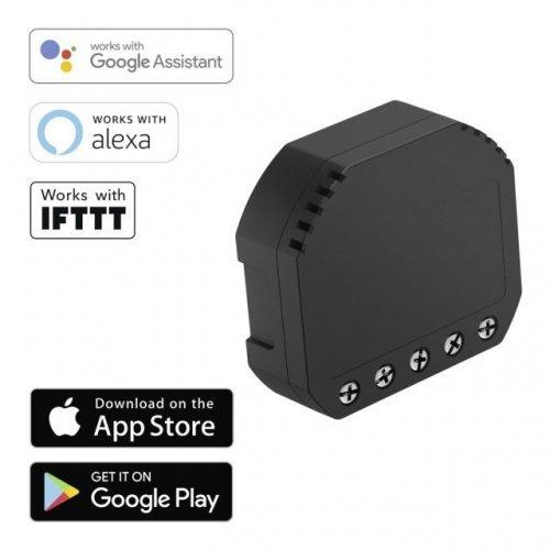HAMA 176556, Wi-Fi превключвател за освтление и контакти, Alexa, Черен (снимка 1)