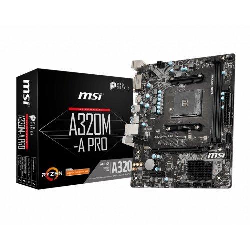 Дънна платка MSI A320M-A PRO, s. AM4, AMD A320 (снимка 1)