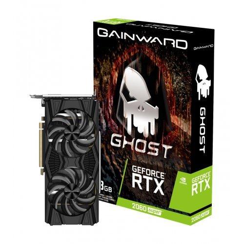 Видео карта nVidia Gainward GeForce RTX 2060 Ghost, nVidia RTX2060 Ghost, 6 GB GDDR6, 256bit, 1x HDMI v2.0/ DVI-D/ DisplayPort DP (снимка 1)
