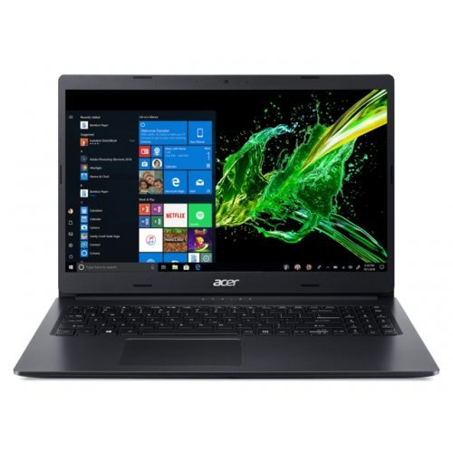 "Лаптоп Acer Aspire 3 A315-55G-38DH, черен, 15.6"" (39.62см.) 1920x1080 (Full HD) без отблясъци, Процесор Intel Core i3-10110U (2x/4x), Видео nVidia GeForce MX230/ 2GB GDDR5, 8GB DDR4 RAM, 1TB HDD диск, без опт. у-во, без ОС (снимка 1)"