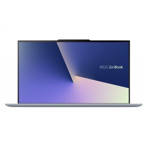 """Лаптоп Asus UX392FN-AB011R, черен, 13.9"""" (35.31см.) 1920x1080 (Full HD), Процесор Intel Core i7-8565U (4x/8x), Видео nVidia GeForce MX150/ 2GB GDDR5, 8GB LPDDR3 RAM, 512GB SSD диск, без опт. у-во, Windows 10 Pro 64 ОС, Клавиатура- светеща с БДС (снимка 1)"""