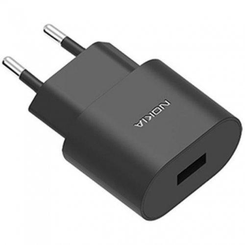 Жично зарядно устройство Nokia AD-10WE, 10W, Black, WALL CHARGER (снимка 1)