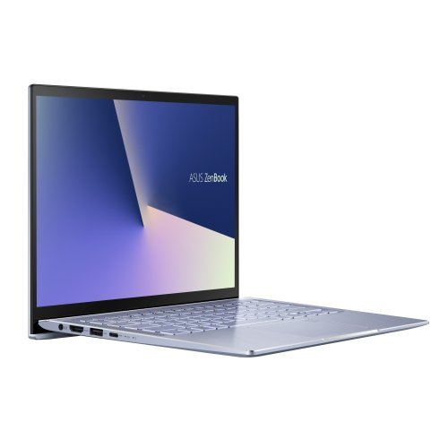 "Лаптоп Asus ZenBook UM431DA-AM038T, AMD Quad Core R7-3700U 2.30 GHz (up to 4.0 GHz, 4MB),14"" FHD (1920x1080), 8GB DDR4 on board, 512GB PCIE G3X2 SSD, Radeon Vega 10 Graphics,illum. Kbd, Win 10 64 bit, Sleeve, USB3.0 to RJ45 Cable, Metal Silver Blue (снимка 1)"