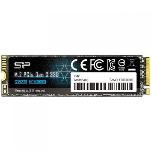 SSD SILICON POWER 1TB A60, M.2 2280, PCIe Gen3x4, SLC CacheRead/Write: 2200/1600 Mb/s (снимка 1)