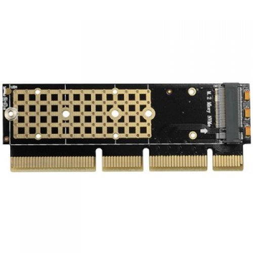 I/O модул AXAGON PCEM2-1U PCI-E 3.0 16x - M.2 SSD NVMe, up to 80mm SSD, low profile 1U (снимка 1)
