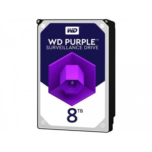 Твърд диск Western Digital 8TB, Purple 3.5, SATA 3, WD82PURZ (снимка 1)